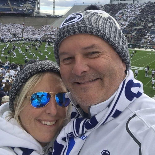 Tom and Kathy Sposito at a Penn State football game